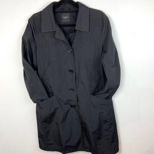 Weekend MaxMara Black Trench Coat Womens Size 16